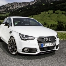 Lovely Audi A3 crossing forest road