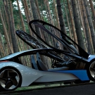 Most luxurious car BMW i8 looks gorgeous in butter fly look