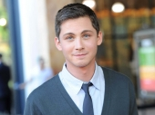Logan Lerman most famous American actor is in happy mood