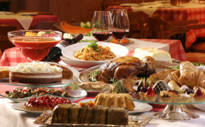 Christmas Dinner Yummy HD Wallpaper for Desktop